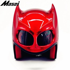 Maséi Betman Series Personalità Casco protettivo per moto Mezzo casco per moto elettrico-moto scooter Motorcross