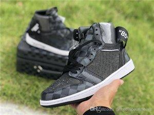 Nike Air Jordan Max Adidas Yeezy Boost 350 Fsat DHL Expédition ETEINT brwon noir 1 1s Chaussures pour trois de basket-ball de luxe de chaussures de sport baskets mode limité de for