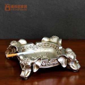 resina cinzeiro elefante artesanato decoração personalidade Home Furnishing cinzeiro