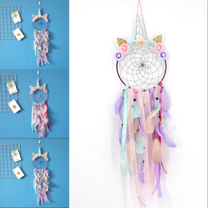 Unicorn Dream Catcher Ornament Home Decor Cars Living Room Bedroom Feathers Hanging Decoration New Pattern Multicolor Hot Sale 15ms J2