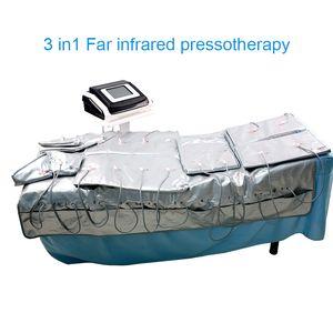 3 em 1 infravermelho distante luz Pressão EMS estimulação Air Slimming Suit Pressoterapia Contorno Corporal SPA Máquina