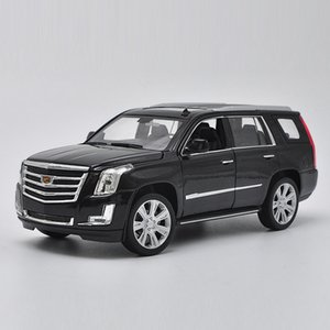 HOMMAT Scala Cadillac Escalade SUV Offroad metallo della lega modellini auto giocattolo Veicoli Modello da collezione giocattoli per bambini