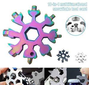 Spanne Outdoor Snowflake Hot Hex 1 Pocket Multipurposer In Hike Tool Survive Openers Camp Multifunction Keyring 18 Multi Ring tsetw GWF2346