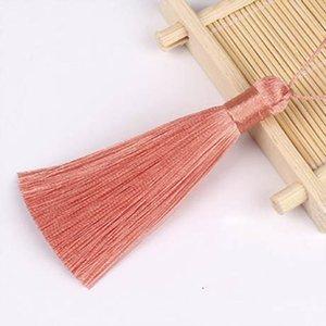 10pcs 8cm Brush pendente pendente accessori per orecchini fai da te gioielli per la produzione di seta satinata nappa artigianato artigianato fornitore h wmticu