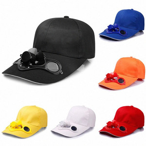 Summer Sport Outdoor Hat Cap With Solar Sun Power Cool Fan Outdoors Cooling Fan Hat Summer Accessories o40i#