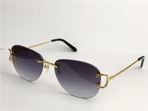 Лучшие продажи оптом на открытом воздухе моды солнцезащитные очки 0102 безраманной круглой рамки ретро авангардный дизайн UV400 светлый цвет декоративные очки
