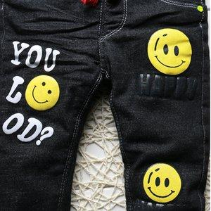 2019 Yeni Kış Kalın Sıcak Erkek Kot Siyah Moda Çocuk Giyim Erkek Bebek Termal Kot Pantolon Çocuklar Için 1-5 Yıl DB-B02 Q1219