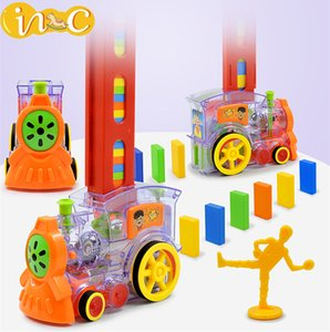 2020 Innovach Domino Automatic Car Electric Train Puzzle Game Blocks Toy Early Childhood Education Gift for Children
