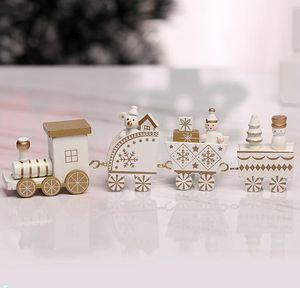 5 Couleur Joyeux Noël Train en bois Enfants Cadeaux Décoration pour la maison Petit Train populaire Décorations de Noël Ornements 4 Nœuds train GGE1928