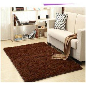 Non-slip Carpet Fluffy Rugs Anti-skid Shaggy Area Rug Dining Room Home Bedroom Carpet Living Room Carpets Floor Yoga jlliuL lucky2005