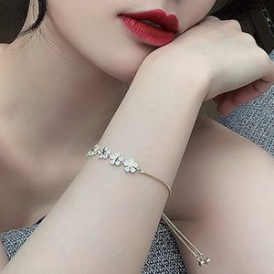 Petal Bracelet Five Little Flowers Versatile Woman Chain Stars Adjustable Wristbands Jewelry Accessories Lady Party Gifts 4 94yh O2