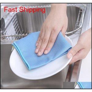 Nude Magic Dish Dish Cleaning Cloths غير النفطي خرقة للمطبخ مع مناديل الزجاج غير العلامات واللطانية XWC2C