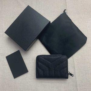 2020 новая мода Визитницы икры женщина небольшой бумажник конструктора чистого цвета Pebble кожа молния роскошный черный бумажник монета кошелек с коробкой