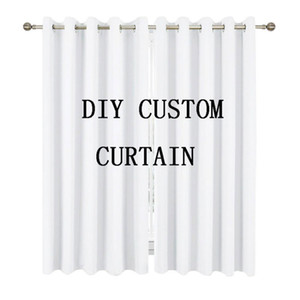 Customized curtains C digital all printed polyester curtains full size from one piece customized 180x180, 165, 150 90 cm privatecustomdiy