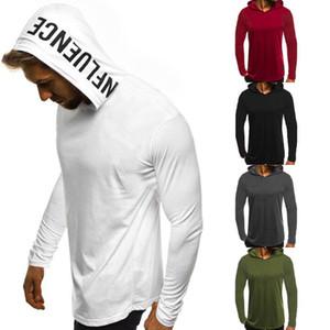 2018 Brand New Fashion Muscle Men's Long Sleeve Slim Fit Tops Summer Hooded Tee Sportswear Hoodies Sweatshirts