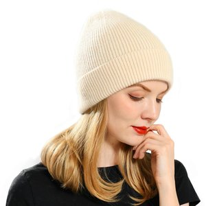 Knitted Beanie Hat Women Warm Spring Autumn Wool Knitting Caps Fashion Hot Selling Ladies Striped Skullies Hats