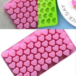 발렌타인 데이 DIY 스낵 형 에폭시 수지 실리콘 사각형 2 색 금형 아이스 젤리 초콜릿 케이크 비스킷 금형이 2xg L2
