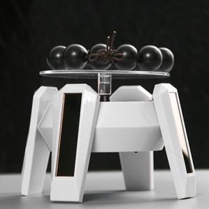 Solar Showcase 360 Giradischi rotante UFO Forme gioielli orologio anello telefono stand display gioielli Organizer Display rigido