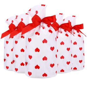 Drawstring Candy Bag Guard Лечение Печенье Обеточные Сумки Подару 50 шт. Для Новогодних Упаковка Подарки Партия Рождественские принадлежности Сумки