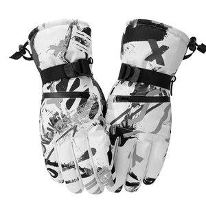 Gants d'hiver Ski Thermal Hommes Femmes Outdoor chaud Thicked plus Velvet Gants coupe-vent antidérapants Gants écran étanche Touch FWA1708