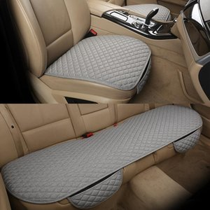 Flax Car Seat Cover Cushion Universal Front Rear Back Seat Cover Car Chair Breathable Protector Mat Pad 5 Colors New