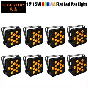 TIPTOP TP-G3045-5IN1 8 Confezione Proiector Par EFF lumini lattine Led piatto luce par RGBWA 15WX12 professionale Slim Par 5IN1 colori