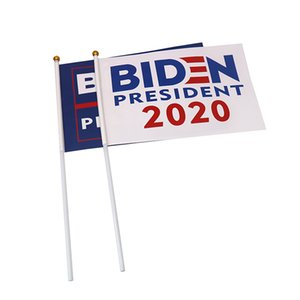 EWL Shipping Joe Biden Flag Colorful Biden Hand Waving Flag Support for President 2020 Banner Keep America Great With Flagpole EWA1066