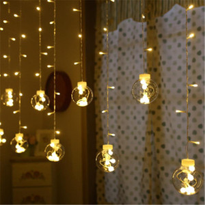 3M LED Christmas Dreamlike Wish Ball Wall Curtain Lamp Fairy Light Holiday Wedding Party Light Christmas Tree Decoration