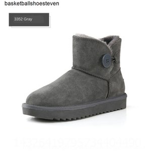 White nHOl ic Chestnut designer blackboots man women girl snow short boots bowtie anklebow boot winter fashion size 39