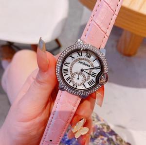 Fashion Designer Womens Small Watches Luxury Diamond Red Leather Quartz Watch Ladies Dress Wristwatches Free Shipping
