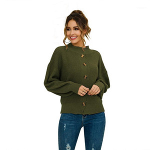 Autumn Winter Women Sweaters And Pullovers Korean Style Long Sleeve Casual Crop Sweater Slim Button Knitted Jumpers Sweter Mujer1