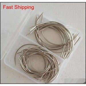 50 unids Combo Deal C Tipo Tejido de algodón Aguja Aguja Reparación Tejido Curvado Costura Agujas Pines 30pcs 2.5 QYLXUO NANA_SHOP