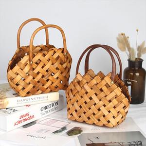 Womens Straw Handbag Flower Woven Summer Beach Messenger Tote Bag Basket Shopper Purse Decorative Flower Baskets Gift