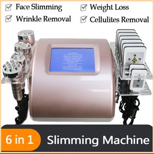 6 in 1 Ultrasonic Cavitation Radio Frequency RF Vacuum Cellulite Body Weight Loss Detox Slimming Machine Multifunctional Beauty Salon Device