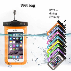 Universal waterproof wet bag IP6X PVC ultra transparent swimming dipping diving waterproof cellphone case for iphone samsung mobile