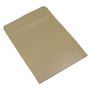 30 adetgrup Kahverengi Stand Up Kraft Kağıt Plastik Zip Kilit Gıda Depolama Paketleme Çantası Doypack Pencere H Sqcmot ile El Sanatları Kilitli Çanta