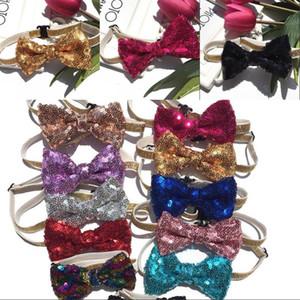 قابل للتعديل الترتر BOWKNOT متعدد الألوان مريح مطاطا القط الكلب حزام الرقبة أزياء الحيوانات الأليفة الحلي القوس التعادل 2 3ay G2