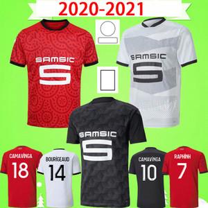 20 21 Camisa de futebol Rennes 2020 2021 Raphinha Niang Terrier Stade Rennais FC BOURIGEAUD camisetas de futebol CASTILLO RAPHINHA Maillot de foot