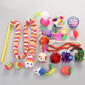 16PCS Cat Toys Pet KitCat Stick Mice Shape Toy for Pet Kitten Dog Cat Interactive Play Supplies