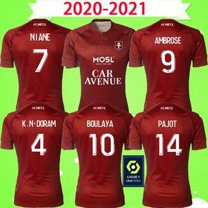مايوه دي القدم 20 21 FC METZ قمصان كرة القدم الفانيلة 2020 2021 RED BOULAYA DIALLO CENTONZE BRONN فاجنر NIANE فوفانا فاجنر منزل FOOTBALL
