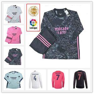 20 21 Casemiro Manches longues Soccer Jerseys Homme Hazard Valverde Rodrgo Camiseta 2020 2021 Vinicius Asensio Shirt de football Enfants