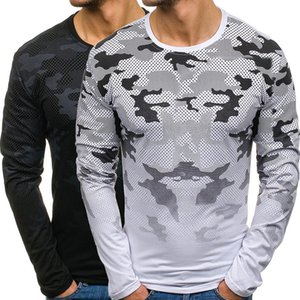 2020 New Men's T-shirt Camouflage Gradient T-shirt Men's Casual Long Sleeve Slim Shapewear Tops Tracksuit Men Free Shipping