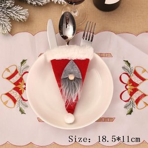 2020 Christmas Fork Knife Cutlery Holder Santa Ornament Christmas Decoration For Home Xmas Navidad Deco Noel New Year Gift 2021 sqcOqz
