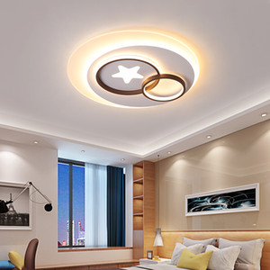 Round modern LED ceiling chandelier for living bedroom kitchen balcony home decoration AC90-260V acrylic chandelier lighting