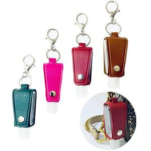 زجاجة السفر 30ML وحامل المفاتيح زجاجات إعادة الملء الفارغة لليد المزعج موزعات الصابون المحمولة