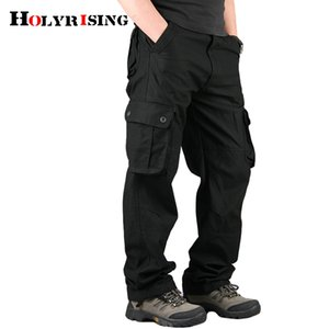 Holyrising Men Cargo Pants Casual Cotton Trousers Multi Pocket 29-44 size New Men Fashion Military Cargo Pants 18677-5 201110
