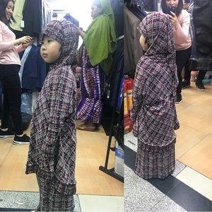 6-12years old Prayer suit ISLAMIC coordinates Muslim suit costume 2 PIECE SET RAMADAN WORSHIP HIJAB ADN SKIRT FOR Baby Girl