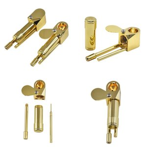 Mini tubo di fumo in ottone Set di tubi in metallo Colore rimovibile Polischi rimovibili Durevoli Proto Proto Tubi Accessori Nuovi prodotti 16Yha E1