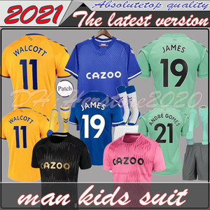 # 7 Richarlison 20 21 Evertir Soccer Jerseys Home Third Third Away 2020 2021 Sigurdsson Digne Cenk Tosun André Gomes Gbamin Man Shirt de football enfants