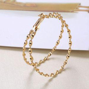 Hoop & Huggie ZOVOLI Gold Big Twisted Wave Earrings Set For Women Statement Geometric Circle Hoops Earings Fashion Minimalist Jewelry